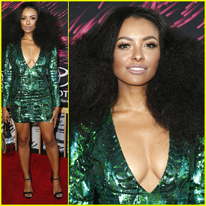 Kat Graham Goes With Big Hair For Soul Train Awards in Vegas