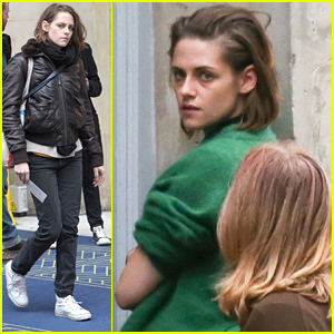 Kristen Stewart Shoots 'Personal Shopper' Late Into the Night in Paris
