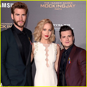 Josh Hutcherson & Liam Hemsworth Show Their Support For Paris at 'Mockingjay' Premiere