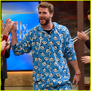 Liam Hemsworth Looks Super Cute in a Panda Onesie!