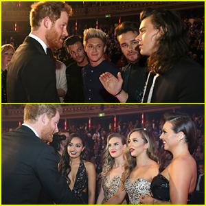 One Direction & Little Mix Meet Prince Harry At Royal Variety Performance 2015
