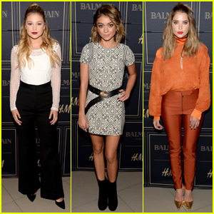 Olivia Holt & Sarah Hyland Get Stylish for Balmain x H&M Pre-Launch Event!