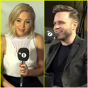 Olly Murs Awkwardly Flirts with Jennifer Lawrence While Interviewing Her