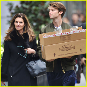 Patrick Schwarzenegger Spends Time With Mom Maria Shriver After 'Midnight Sun' Wraps