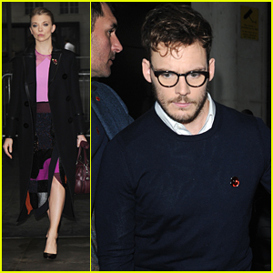 Sam Claflin Hits Up BBC Radio After Revealing Pregnacy At Mockingjay Premiere in London