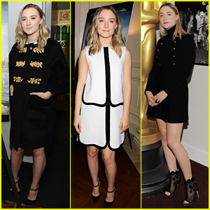 Saoirse Ronan Wears Three Different Looks For 'Brooklyn' Promo In New York City