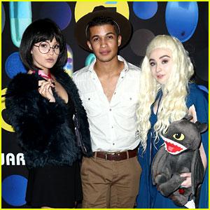 Sabrina Carpenter & Olivia Holt Hit Up Just Jared's Halloween Party!