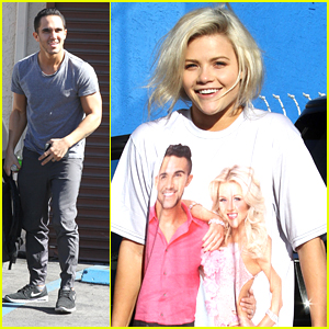 Witney Carson Wears Team BrownSugar Tee To DWTS Practice
