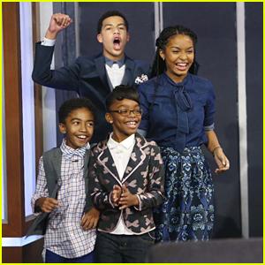 Yara Shahidi & Marcus Scribner Make 'Jimmy Kimmel Live' Debut With Marsai Martin & Miles Brown