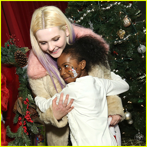 Abigail Breslin Spreads Christmas Cheer at Delta's Holiday in the Hangar in NYC