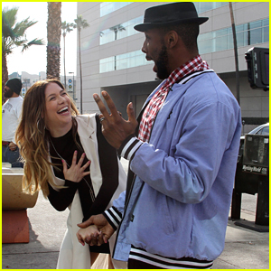 Allison Holker Surprises tWitch with Flash Mob Gender Reveal - See The Pics!