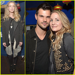 Taylor Lautner Celebrates Timberland with Amber Heard!