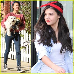 Amber Montana Snaps Glam Selfie After Walking Her Dog in LA