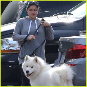 Ariel Winter Takes Pup Casper For Hike Before Christmas