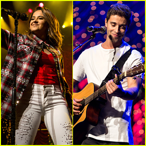 Becky G Adopts Jake Miller Into The Family at Rock The Red Kettle Concert