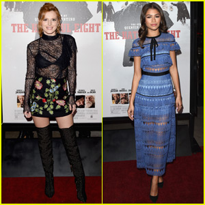 Bella Thorne & Zendaya Reunite at 'The Hateful Eight' Premiere!