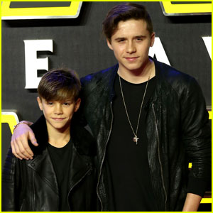 Brooklyn Beckham Matches With Brother Romeo for 'Star Wars: The Force Awakens' Premiere