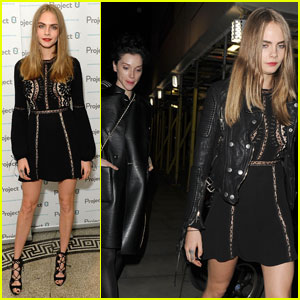 Cara Delevingne Couples Up With Girlfriend St. Vincent for London Event