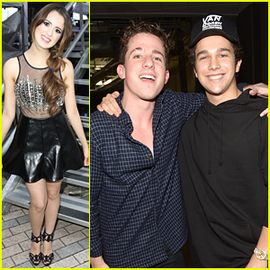 Charlie Puth & Laura Marano Spread The Holiday Spirit at Y100's Jingle Ball 2015