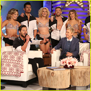 Peta Murgatroyd & Val Chmerkovskiy Talk Up 'DWTS Live Tour' On 'Ellen'
