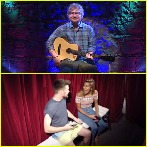 Ed Sheeran Performed in a $2 Peep Show - Watch Now!