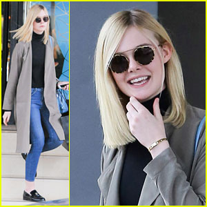 Elle Fanning Heads Out for Some Holiday Shopping
