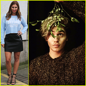 George Shelley Gives Ferne McCann A Christmas Kiss Under the Mistletoe on 'Loose Women'