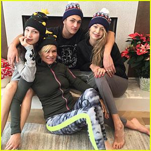 Gigi & Bella Hadid Celebrate White Christmas w Lil Bro Anwar