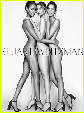 Gigi Hadid Bares It All for Stuart Weitzman Campaign!