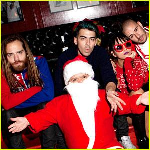 Joe Jonas & DNCE Host Holiday Themed Jingle Ball After Party!