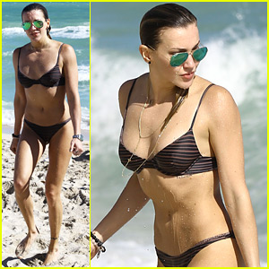 Arrow's Katie Cassidy Has a Beach Day in Her Bikini!