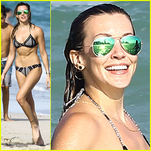 Arrow's Katie Cassidy Enjoys Another Sunny Day in Miami