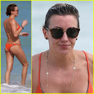 'Arrow' Star Katie Cassidy Soaks Up the Sun in an Orange Bikini