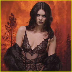 Kendall Jenner Goes Up in Flames for 'Love' Advent Christmas Video