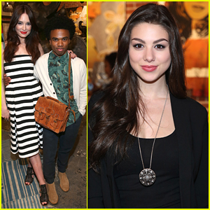 Kira Kosarin & Mallory Jansen Step Out For Bromley's Debut Exhibition in LA
