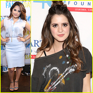 Laura Marano Has Mini 'Austin & Ally' Reunion - With Becky G at TJ Martell Foundation Family Day 2015