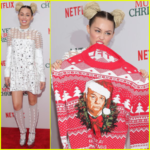Miley Cyrus Celebrates Christmas With Bill Murray in NYC!