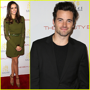 Nina Dobrev & Ian Harding Celebrate The New Edition Of 'The Beauty Book For Brain Cancer'