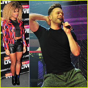Fleur East & Olly Murs Show Off Insane Dance Moves At Radio City Christmas 2015