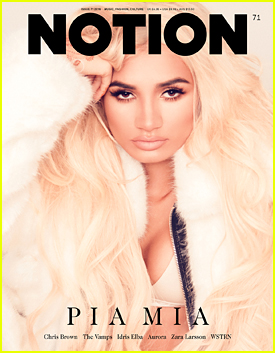 Pia Mia is a Blonde Bombshell For 'Notion' Magazine