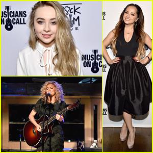 Sabrina Carpenter & Becky G Honor Rachel Platten At Musicians On Call Rock The Room Tour