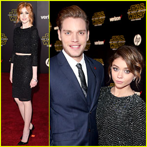 Katherine McNamara, Dominic Sherwood, & 'Shadowhunters' Cast Attend 'Star Wars' Premiere!
