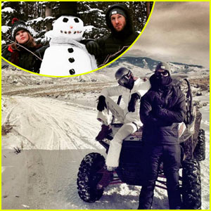 Taylor Swift & Calvin Harris Spend Christmas Eve on the Snow Slopes