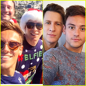 Tom Daley Celebrated Christmas in Los Angeles with Fiance Dustin Lance Black