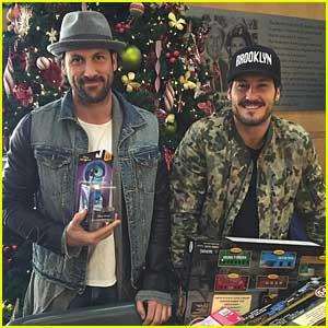 Val Chmerkovskiy Brings Brother Maks To Shop For Toys for Kids at Children's Hospital LA