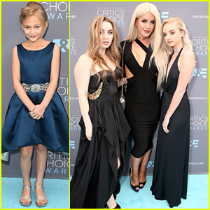 Alyvia Alyn Lind & Social Star Maddi Bragg Step Out For the Critics' Choice Awards 2016
