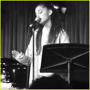 Ariana Grande Performs With Writer of Her First Broadway Show