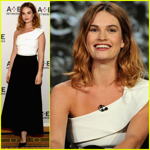 Lily James Brings 'War & Peace' to Winter TCA Tour 2016
