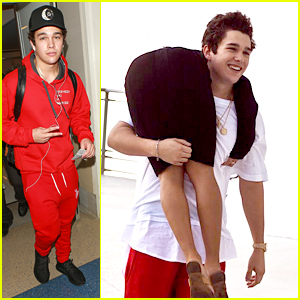 Austin Mahone Heads Back to LA After Filming 'Put It On Me' Music Video Filming