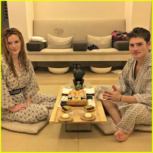 Bella Thorne & Gregg Sulkin Indulge in Cute Couples' Spa Day!
